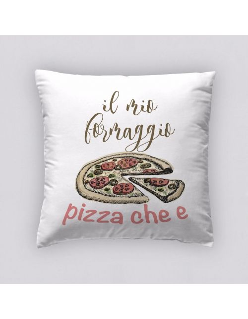 Funda Cojín Reversible Pizza