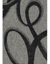 Colcha Foulard Multiusos Jacquard Abstract Negro A