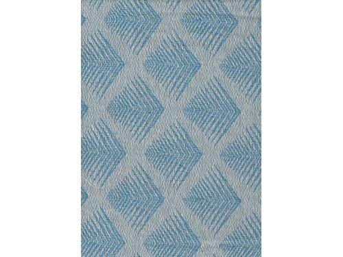 Colcha Foulard Multiusos Jacquard Romboide Azul A