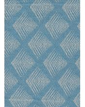 Colcha Foulard Multiusos Jacquard Romboide Azul B