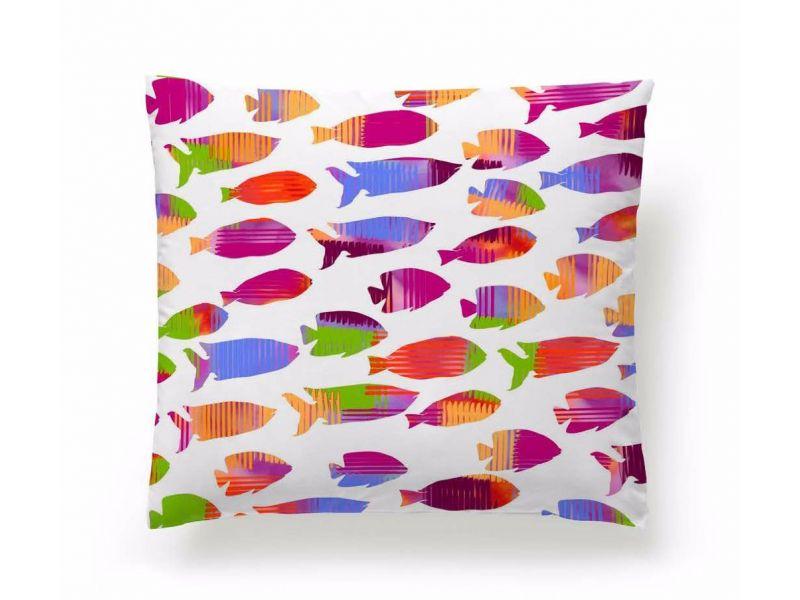 Funda Cojín Reversible Fish Naranja