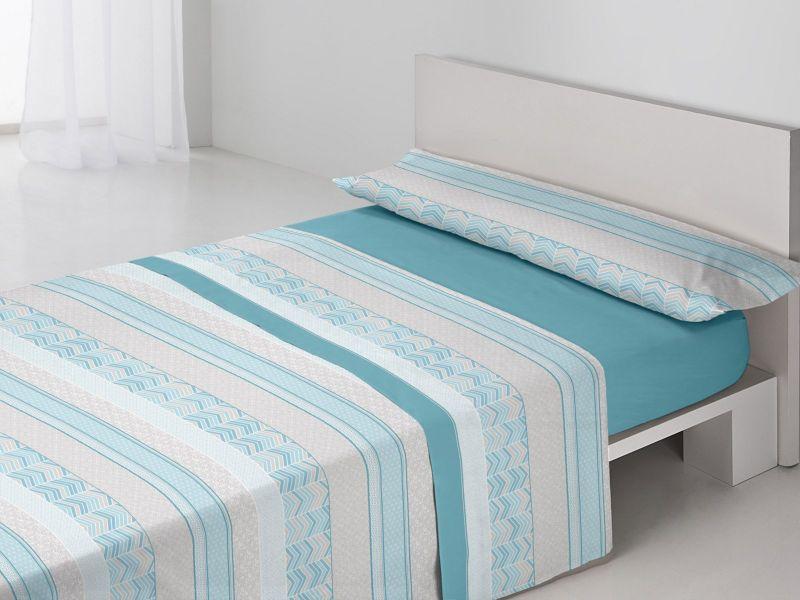 Juego sábanas Alicia Azul-Turquesa