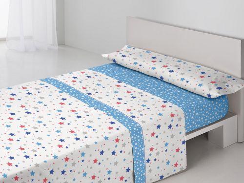 Juego sábanas Sandra Azul
