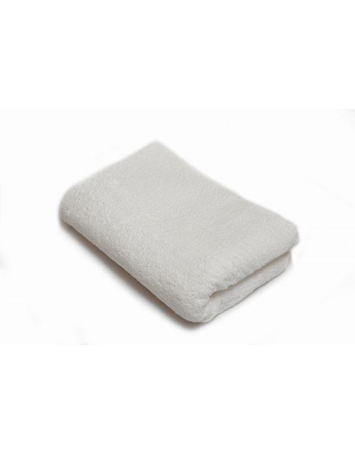 Toalla lisa blanca algodón 500 gsm