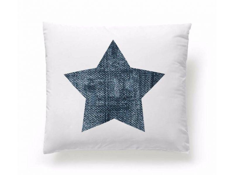 Funda Cojín Reversible Jeans Star