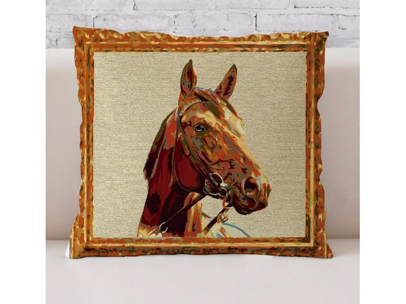 Funda Cojín Jacquard Horse