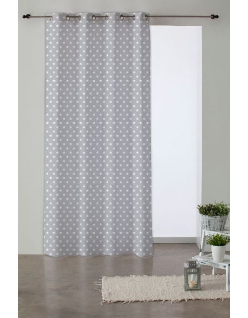 Cortina Candy Star Gris