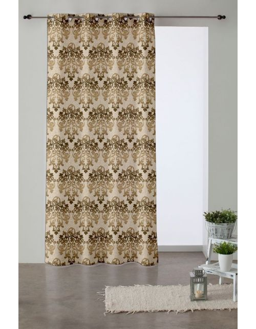 Cortina Damasco Beige