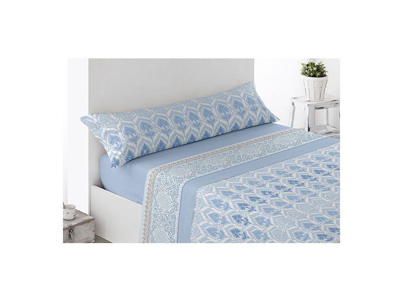 Juego sábanas microfibra Carpio Azul