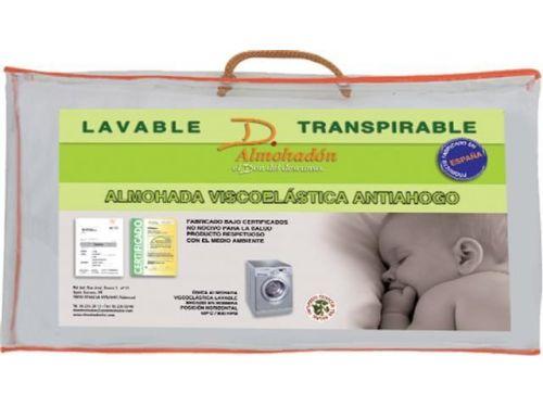 Almohada cuna viscoelástica lavable transpirable antiahogo embalaje