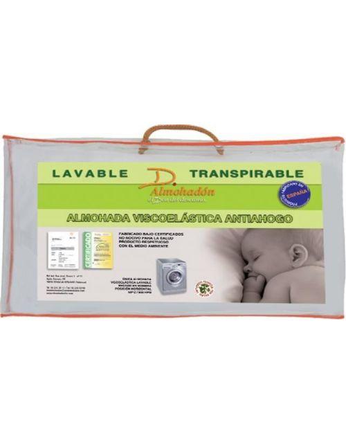 Almohada cuna viscolástica lavable transpirable antiahogo