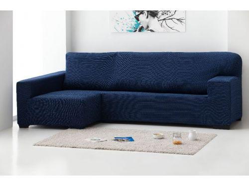 Funda sofá Chaise longue Rústica negro
