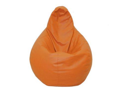 Puff Pera Polipiel Liso Naranja Barbadella