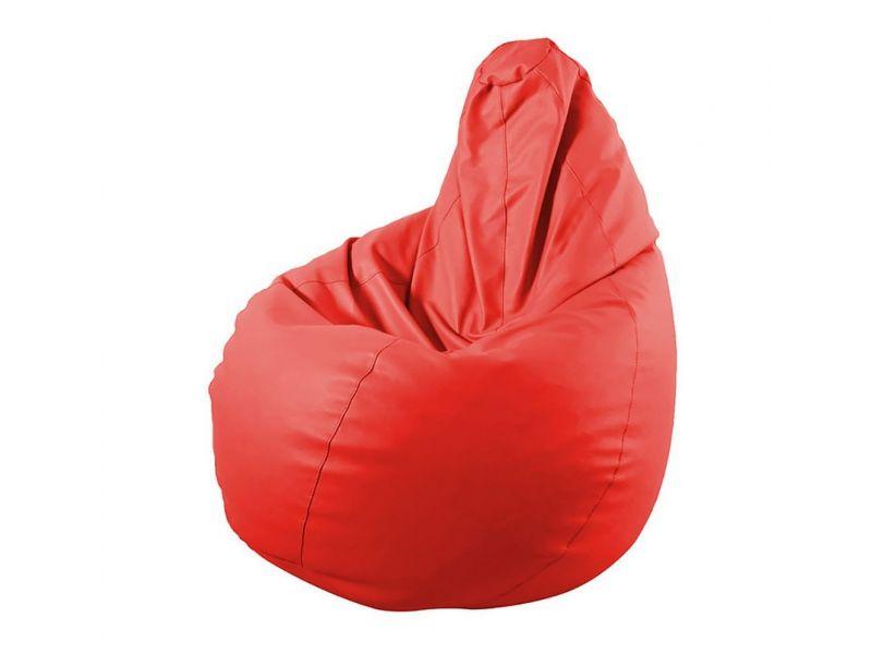 Puff Pera Polipiel Liso Rojo Barbadella