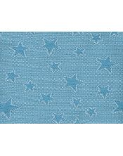 Colcha multiusos estrella detalle azul