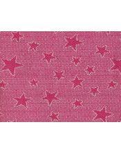 Colcha multiusos estrella detalle fucsia