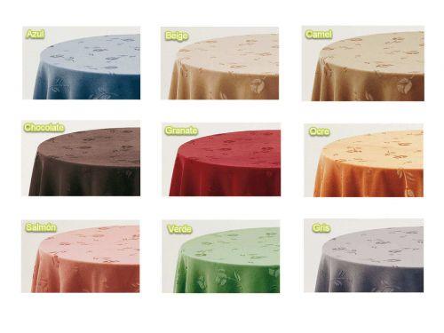 Falda mesa camilla redonda terciopelo colores