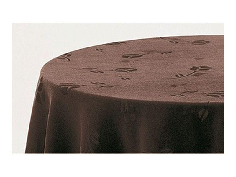 Falda mesa camilla redonda terciopelo chocolate