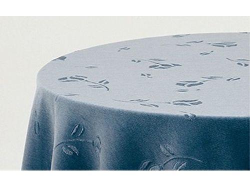 Falda mesa camilla cuadrada terciopelo azul