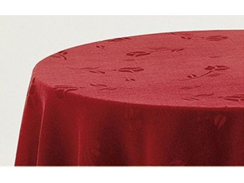 Falda mesa camilla rectangular terciopelo granate