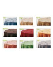 Falda mesa camilla ovalada terciopelo colores