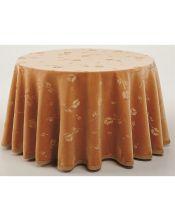 Falda mesa camilla ovalada terciopelo