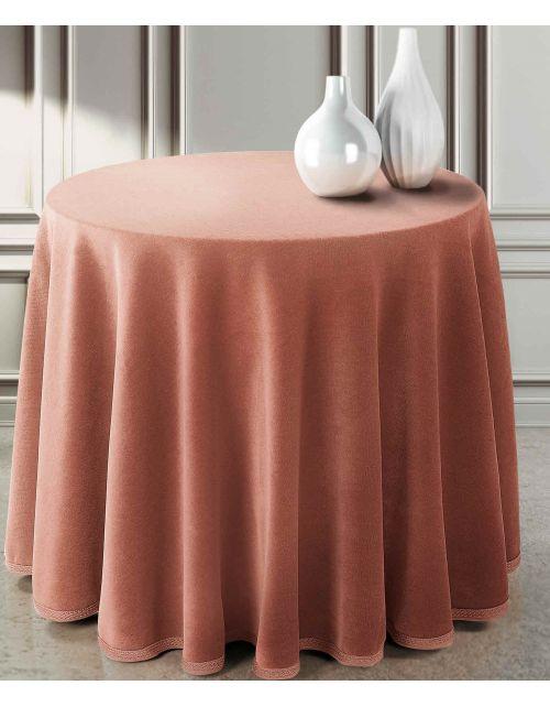 Falda mesa camilla terciopelo redonda lisa