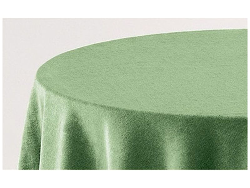 Falda mesa camilla rectangular lisa verde