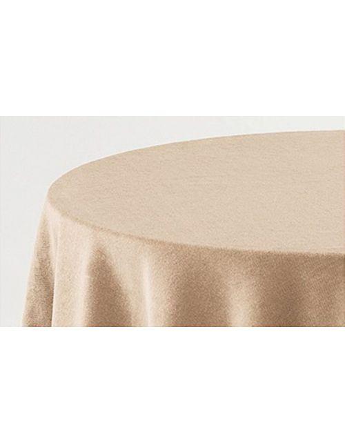 Falda mesa camilla terciopelo ovalada lisa