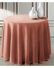 Falda mesa camilla ovalada lisa