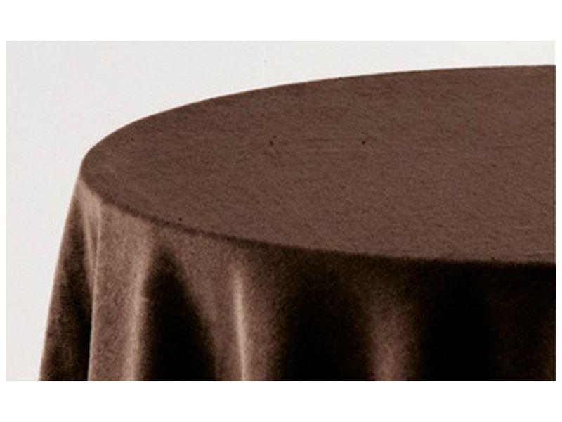 Falda mesa camilla ovalada lisa chocolate