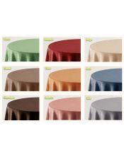 Falda mesa camilla ovalada lisa colores
