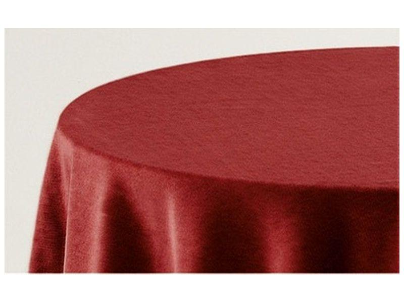 Falda mesa camilla ovalada lisa granate