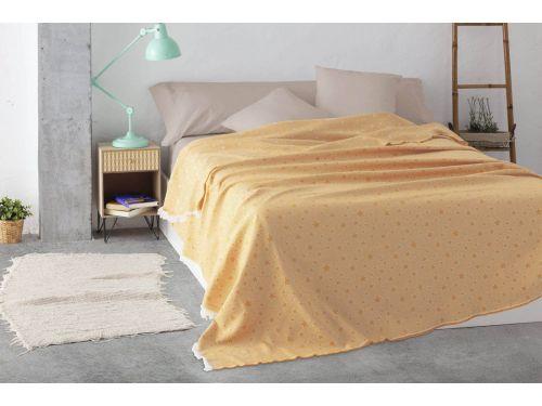 Colcha multiusos estrella cama amarillo