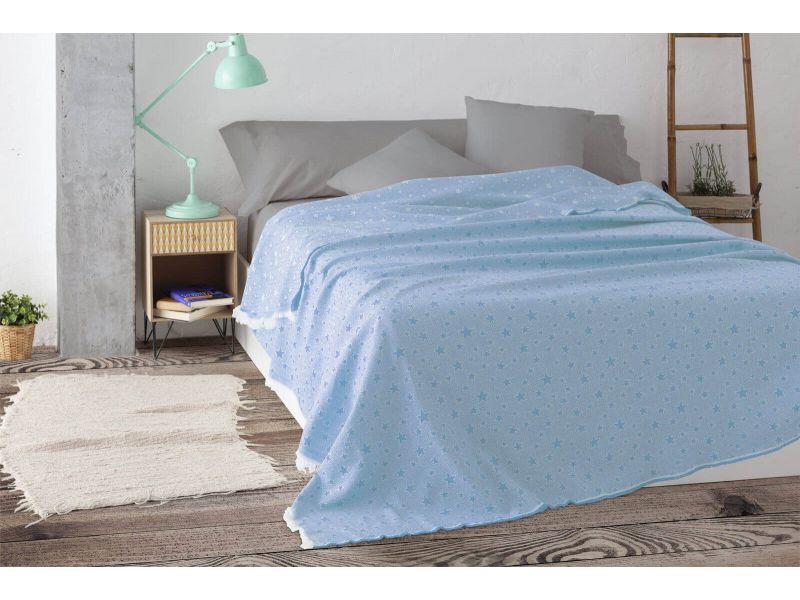 Colcha multiusos estrella cama azul celeste