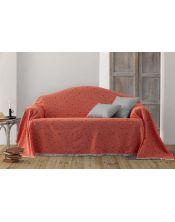 Colcha multiusos estrella sofa naranja