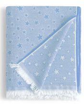 Colcha multiusos estrella cenital azul