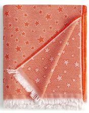 Colcha multiusos estrella cenital naranja