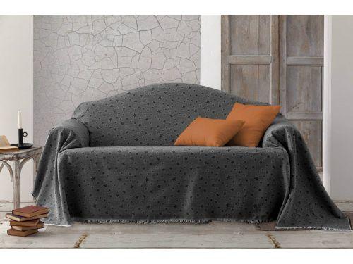 Jarapa multiusos estrella sofa gris oscuro