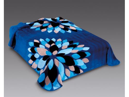 Manta terciopelo ster 240 Belplá Azul