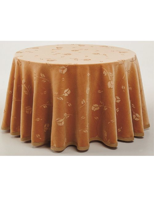 Falda mesa camilla redonda terciopelo